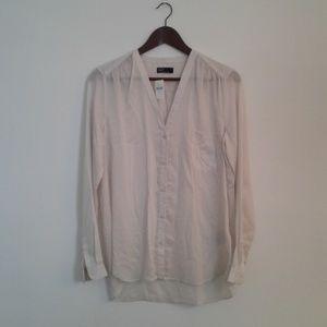 NWT Gap cream button-up blouse, M